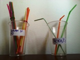 bicchieri con cannucce