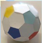 pallone costruito con esagoni