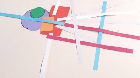 Immagine di una composizione con forme geomentriche