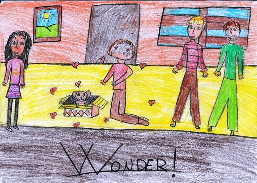 Disegno di una sequenza del libro Wonder