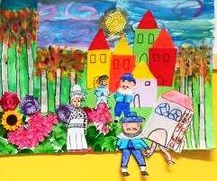 disegno personaggi mago di Oz