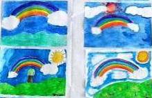 disegni arcobaleno
