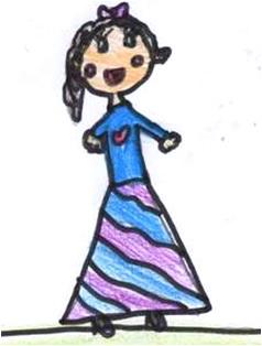 disegno bambola
