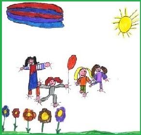 disegno bambini insieme