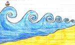 disegno onde del mare