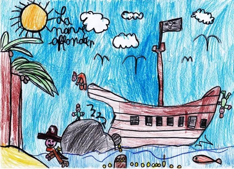 disegno vascello e pirati